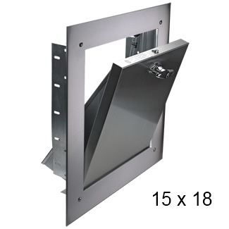 15 x 18 bottom hinged trash chute door